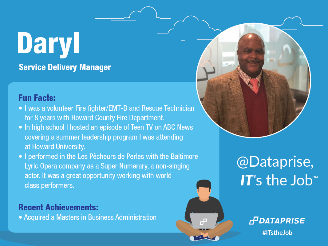 Meet Daryl, a Service Delivery Manager at Dataprise.