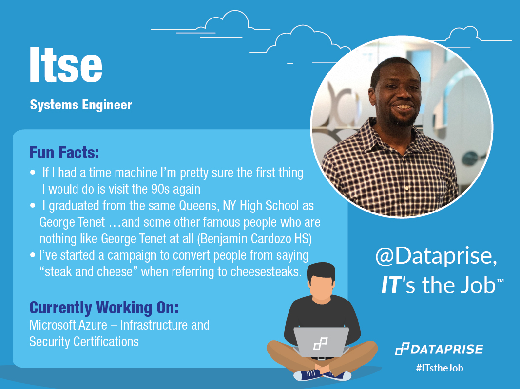 Meet Itse, a Systems Engineer at Dataprise