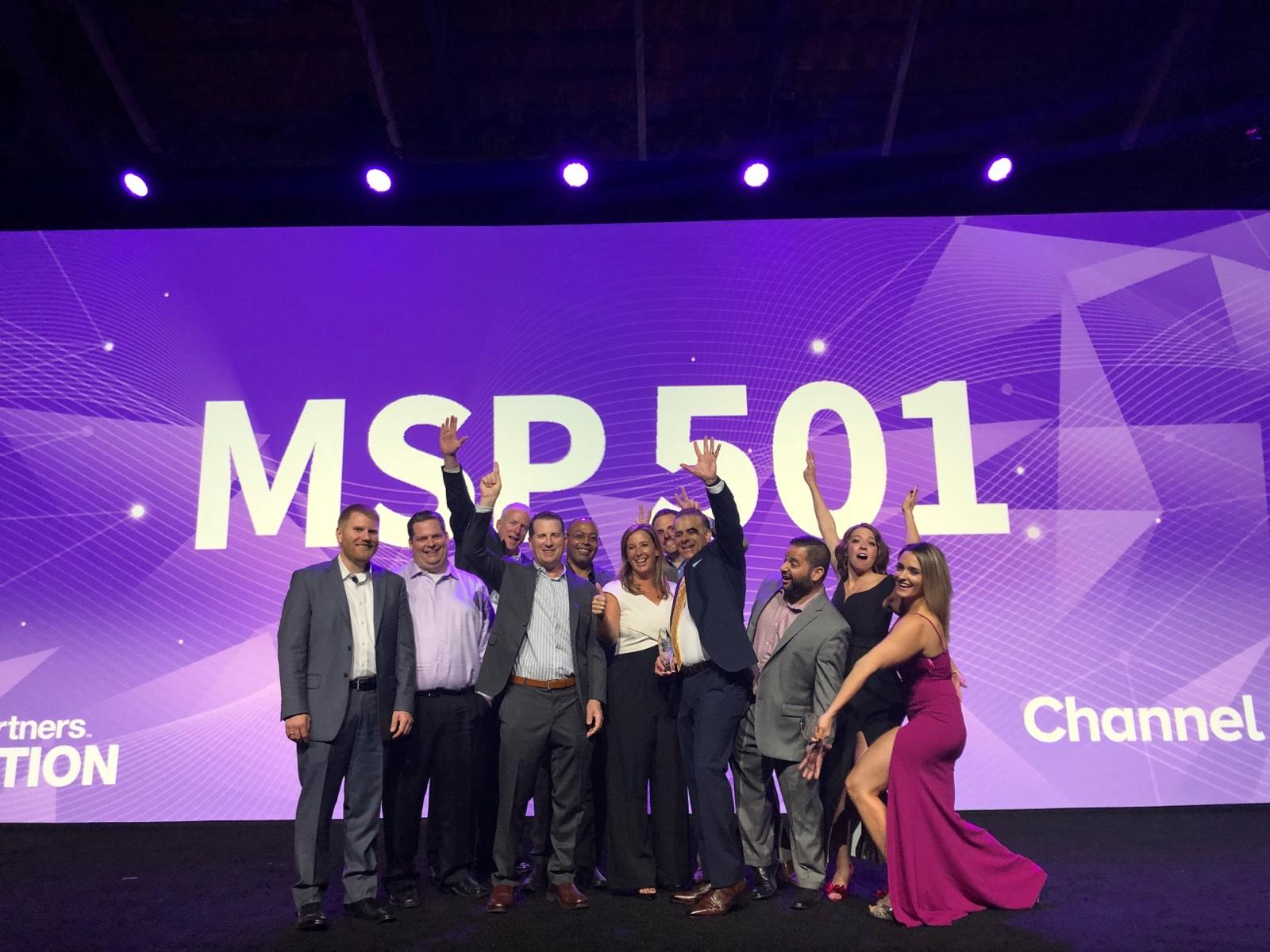 Dataprise receiving MSP 501 award.