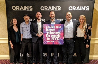 Dataprise Ranked #4 on Crain's 2018 Best Places to Work in NYC List