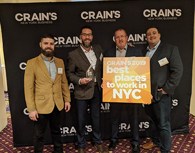Dataprise Ranked #7 on Crain's 2019 Best Places to Work in NYC List