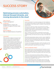 Process Automation and Cloud Service Success Story