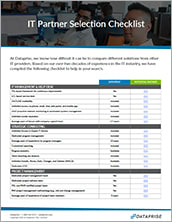 IT Partner Selection Checklist