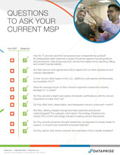 Questions to Ask Your MSP Checklist