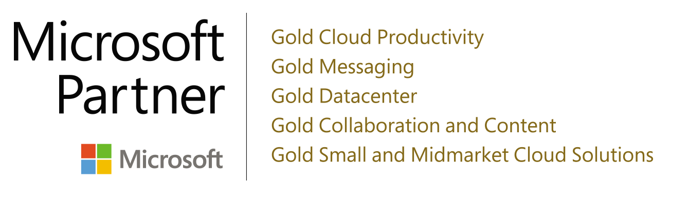 Microsoft Gold Logo for Sharepoint Services