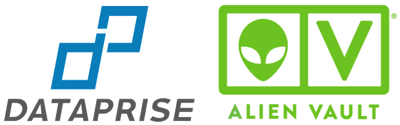 Dataprise and AlienVault logos